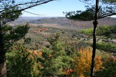 View from the top of Monument Mountain Great Barrington, MA