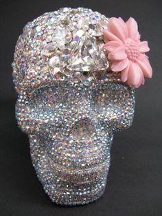 Glitter skull