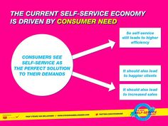 The new self service economy is about gaining efficiency but also about making more money.