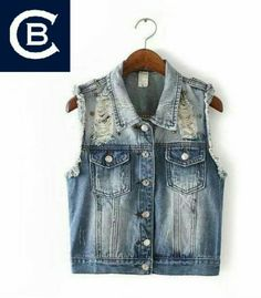 Jeans, przetarcia, dziury... Kamizelka dostępna w rozmiarze L. W sprzedaży!