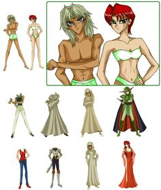 Marik_x_Karen_Paper_Dolls_by_SetsunaKou* 1500 free paper dolls at artist Arielle Gabriel's International Paper Doll Society also her new memoir The Goddess of Mercy & the Dept of Miracles playing with paper dolls in Montreal *