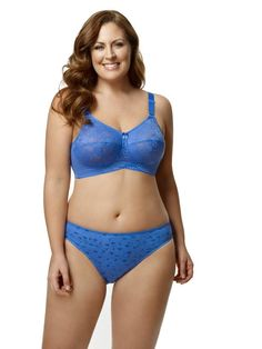 Bra up to 50K FULL CUP WIRE FREE PLUS SIZE Black,white,blue,nude Elila 1303
