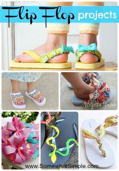 15 creative flip flop ideas from www.SomewhatSimple.com