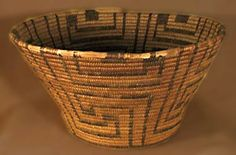 Featured is a basket from the 1930's, woven by the desert people known as the Tohono O'odam or Papago. They live in the SW of Arizona and N Mexico. The basket featured is woven of willow and Devil's Claw.