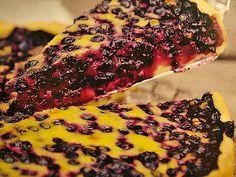 Heidelbeerkuchen Landfrauenart Quiche, Baking Party, Gateaux Cake, Sweet Bakery, Food Blogs, No Bake Desserts, Yummy Cakes, No Bake Cake, Sweet Recipes