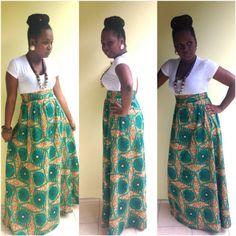 African Print Maxi Skirt by Kiwie Dan Couture....Www.facebook/kiwiedancouture|www.pinterest.com/kiwiedancouture|instagram: @Kiwie Dan Couture