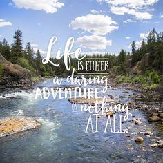 RB | Designer & Photographer  Daring Adventure #life #typography #quote #adventure