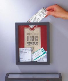Create an attractive display of ticket stubs from concerts, plays, sporting events and more using this Ticket Memento Storage Box. It's a decorative way for ticket collectors to remember all of their favorite evenings.