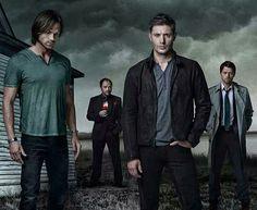 Sam, Crawley, Dean, and Cas