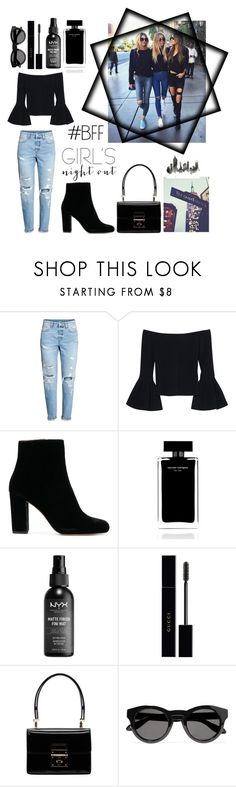 """""""Girls Night Out 🖤🏙"""" by lyndsey-eve-wampler ❤ liked on Polyvore featuring H&M, Alexis, Narciso Rodriguez, NYX, Gucci, Dolce&Gabbana and Givenchy"""