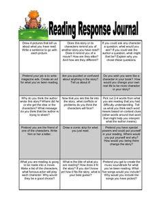 reading response journals.