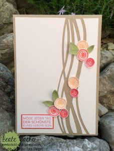 Swirly Birds, Thnilits Wunderbar verwickelt, Hochzeitskarte, Stampin´Up!