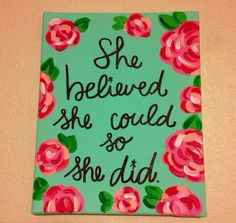 Lilly Pulitzer Inspired Quote Canvas by LaArtistaRompio on Etsy, $20.00