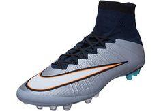 Nike Mercurial Superfly CR7 AG-R Soccer Cleats - Silverware