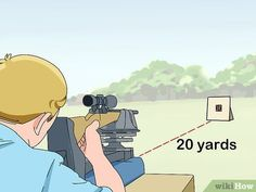 How to Zero Your Rifle Scope. Learning to properly mount, sight and adjust a rifle scope will result in accurate shots and saved ammunition. If you want to learn how to do it yourself, you can learn to install and adjust your scope safely. Shooting Guns, Shooting Range, Shooting House, Shooting Targets, Shooting Sports, Ar Rifle, Rifle Scope, Hunting Rifles, Hunting Tips