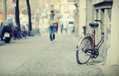 """Künstler-Tapete """"Fahrrad"""""""