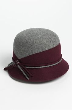 Grey/Wine, Nordstrom Two Tone Wool Cloche   Nordstrom