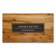 Woodworker - Border Wood Grain Double-Sided Standard Business Cards (Pack Of 100)
