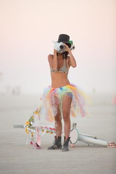 """That's what I was wearing last time I was here"" - Impress your friends, show them your style. They'll discover your look next time they come by -- ➤ ♥ Tutu Festival Chic apocalypse ballet burning man Festival Looks, Festival Wear, Festival Outfits, Festival Fashion, Rave Festival, Festival Style, Burning Man Outfits, Burning Man Fashion, Hippie Outfits"