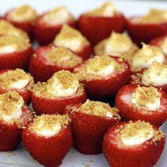 cheese cake stuffed strawberries recipe
