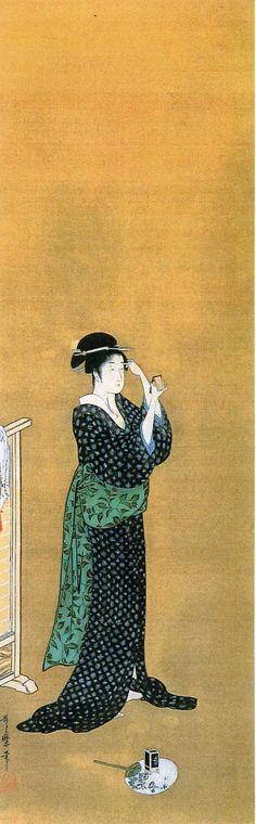 Beauty in summer dress by Kitagawa Utamaro