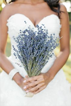 lavender wedding bouquet #bouquet #simplebouquet #weddingchicks http://www.weddingchicks.com/2014/04/07/rustic-lush-lavender-wedding/