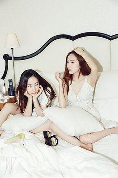 Jessica & Krystal <W Korea> Jessica & Krystal, Krystal Jung, Jessica Jung, Pretty Asian Girl, Girls Generation, Beautiful Actresses, Kpop Girls, Korean Girl, Victoria