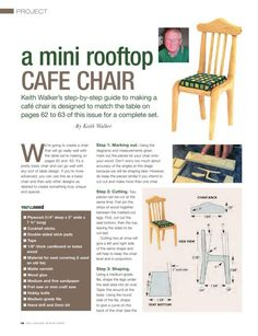 how to: mini cafe chair