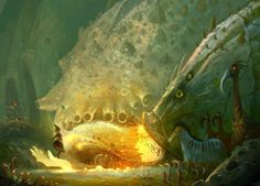 I have a date with big fish by on DeviantArt Fantasy Creatures, Sea Creatures, Mythical Creatures, Fantasy World, Fantasy Art, Science Fiction Art, Fantasy Illustration, Big Fish, Sci Fi Art