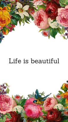 Life is Beautiful Quote Floral iPhone 7 Plus Wallpaper / Tap to download for free! Love Preppy XXX