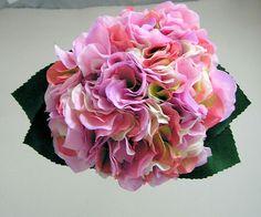 Pink Artificial Hydrangea Posy ideas for Lili