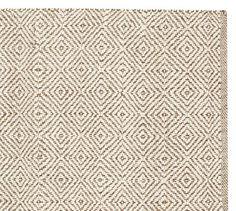 Duncan Diamond Natural Fiber Rug - Ivory | Pottery Barn for study