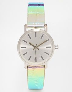 ASOS 90s Holographic Strap Watch