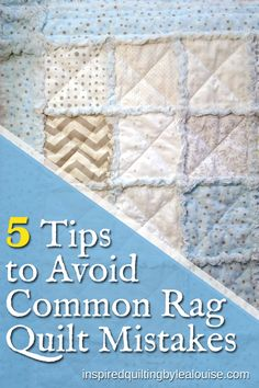 Good Cost-Free rag Quilting Tips Five Essential Tips to Avoid Common Rag Quilt Mistakes How to Make A Crib Size Rag Quilt. Baby Rag Quilts, Flannel Rag Quilts, Shirt Quilts, Quilting For Beginners, Quilting Tips, Quilting Tutorials, Quilting Projects, Sewing Projects, Beginner Quilting