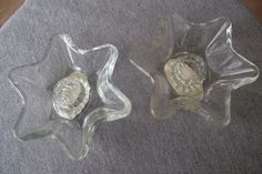 Clear Glass Star Taper Candle Holder Candle-Lite Lancaster Colony Companies