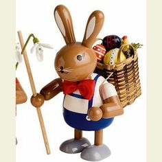 Bunny with basket - 11 cm / 4 inches