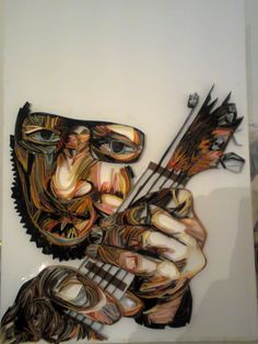 Inspired to Yulia Brodskaya,guitar quilling