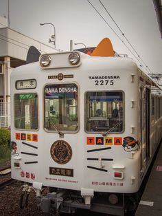 The famous cat train! Japan Trip, Japan Travel, Beautiful Places In Japan, Wakayama, Animal 2, Chihuahuas, Cows, South Korea, Trains