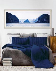 Tablou Framed Art Ha Long Bay #homedecor #interiordesign #inspiration #bedrooom #paints decor Ha Long Bay, Framed Art, Comforters, Blanket, Bed, Interior, Modern, Poster, Painting