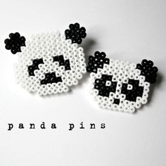 Pandas hama perler beads by millicent