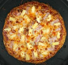 Cauliflower Crust Hawaiian Pizza #justeatrealfood #recipegirl