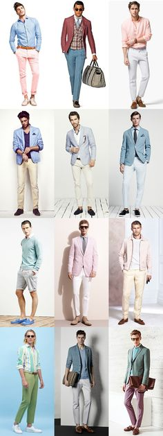 Men's Pastels Outfit Inspiration Lookbook