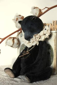 """Velvet Night By Natasha Murasha - Bear has long been held in reserve, but the buyer is not able to redeem it. Bear in the free market.NEW Artist Bear""""velvet Night """"28cm (not standing). sit 19 cmAll of my toys are 100% handmade - made by hand, no machine sewing!Vintage velvet<br..."""