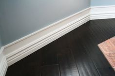 WORKS EVERY TIME! idea for getting bigger baseboards on the cheap, really cheap: add small molding a few inches above and paint wall space in between the same color. Wow! - Click image to find more Home Decor Pinterest pins