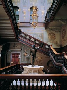 the great staircase, Houghton Hall, Norfolk, UK Houghton House, Houghton Hall, Castle Wall, Castle House, English House, English Style, English Architecture, Architecture Details, Hall Interior