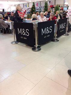 Recent installation of Marks & Spencer Cafe Barriers #mands #cafe #cafebarriers #cafebanners #banners #canvas