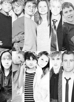 The cast then and now. Puberty: they did it right.