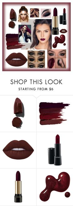 """""""Matte lipstick"""" by kotnourka ❤ liked on Polyvore featuring beauty, Lipstick Queen, Serge Lutens, Lime Crime, MAC Cosmetics, Lancôme and Magdalena"""