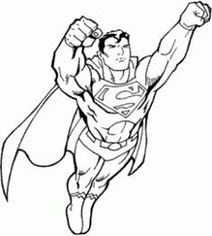 Superman Color Page Cartoon Characters Coloring Pages Plate