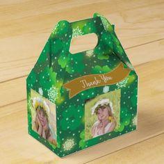 4 PHOTO Collage Gable Box St Patricks Shammrock - st. patricks day gifts irish ireland green fun party diy custom holiday
